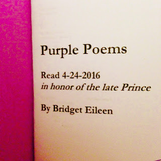 purple poems chapbook for poetry reading after prince died by bridget eileen