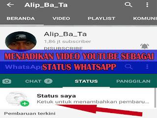 Cara Jadikan Status WA Dari Video Youtube Dengan Mudah