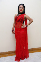 Aasma Syed in Red Saree Sleeveless Black Choli Spicy Pics ~  Exclusive Celebrities Galleries 038.jpg