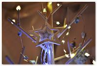 étoile en bois sapin de Noël scandinave