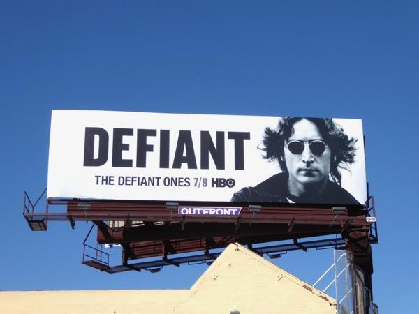 Defiant John Lennon billboard