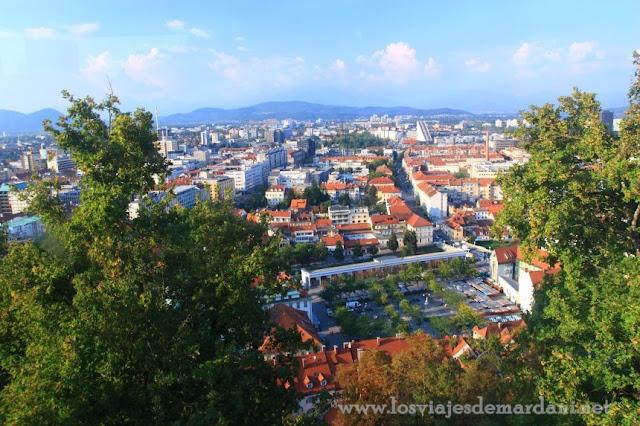 Vistas desde el castillo de Ljubljana