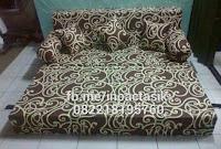 Sofa bed Inoac motif gotik cokelat inoactasik