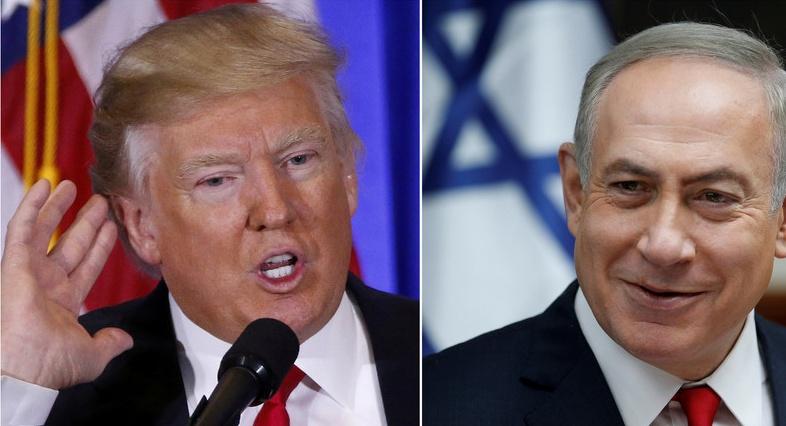 Donald Trump , Benyamin Netanyahou