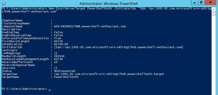 Convert a Windows Server 2012 Server to iSCSI Target Server