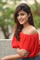 Rhea Chakraborty in Red Crop Top and Denim Shorts Spicy Pics ~  Exclusive 274.JPG