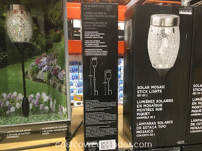 Costco 708767 - Manor House Solar Mosaic Stick Lights - Easy installation, functional, and beautifies your garden