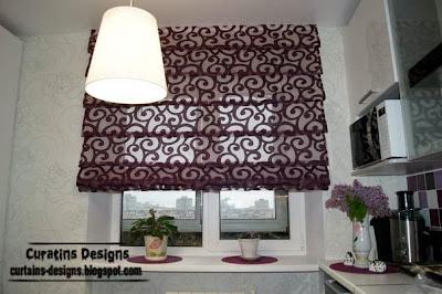 exclusive wonderful purple kitchen ideas | 10 Exclusive roman shades designs for kitchen, roman ...
