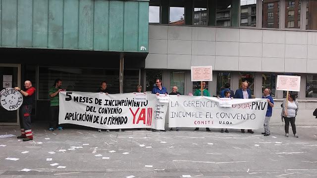 protesta trabajadores Usoa