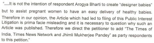 Press Release by Arogya Bharati on Garbh Sanskar