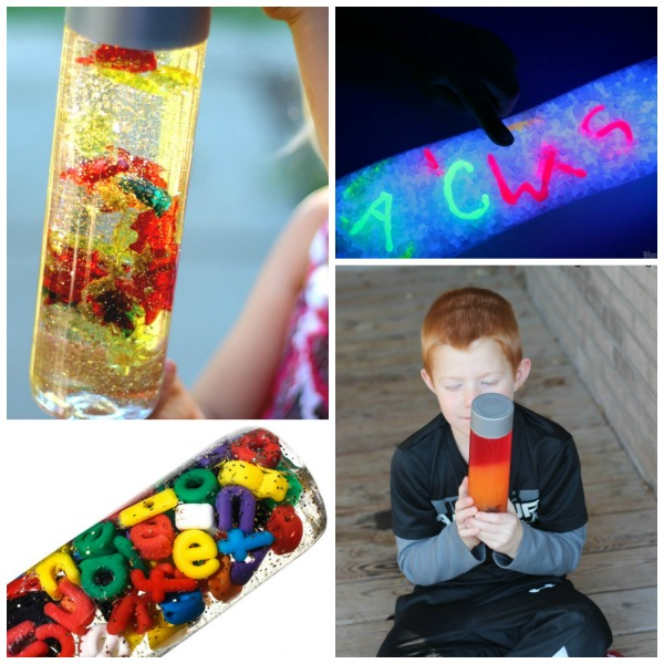 46 TOTALLY AWESOME sensory bottles for kids!  WOW!  I love these!