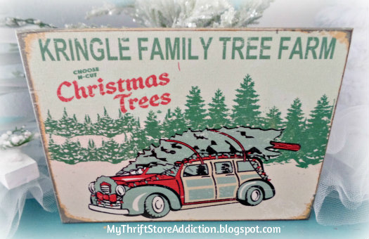 A Thrift Store Christmas Tree Farm mythriftstoreaddiction.blogspot.com How to create a wintry Christmas tree farm with upcycled thrift store finds
