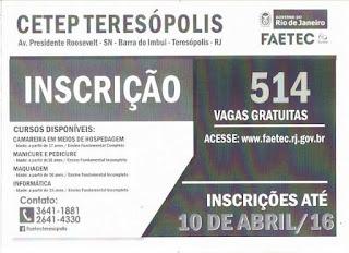 Rodada de cursos da FAETEC Teresópolis
