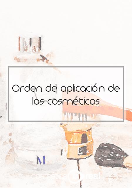 El orden de aplicación de las cremas