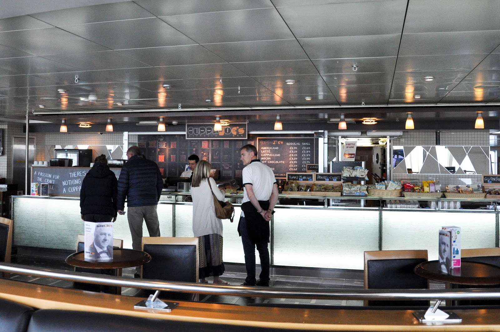 The bar on the DFDS Seaways Ferry, The English Channel, on the way back from France