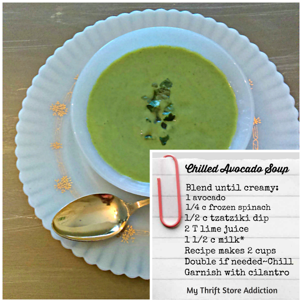 Creamy chilled avocado soup