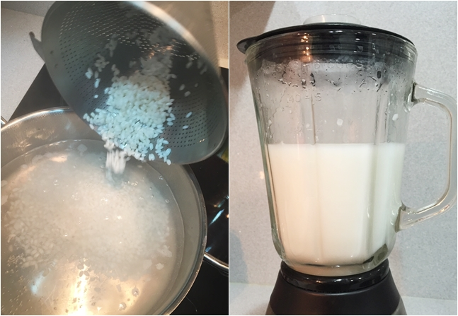 Leche de arroz casera
