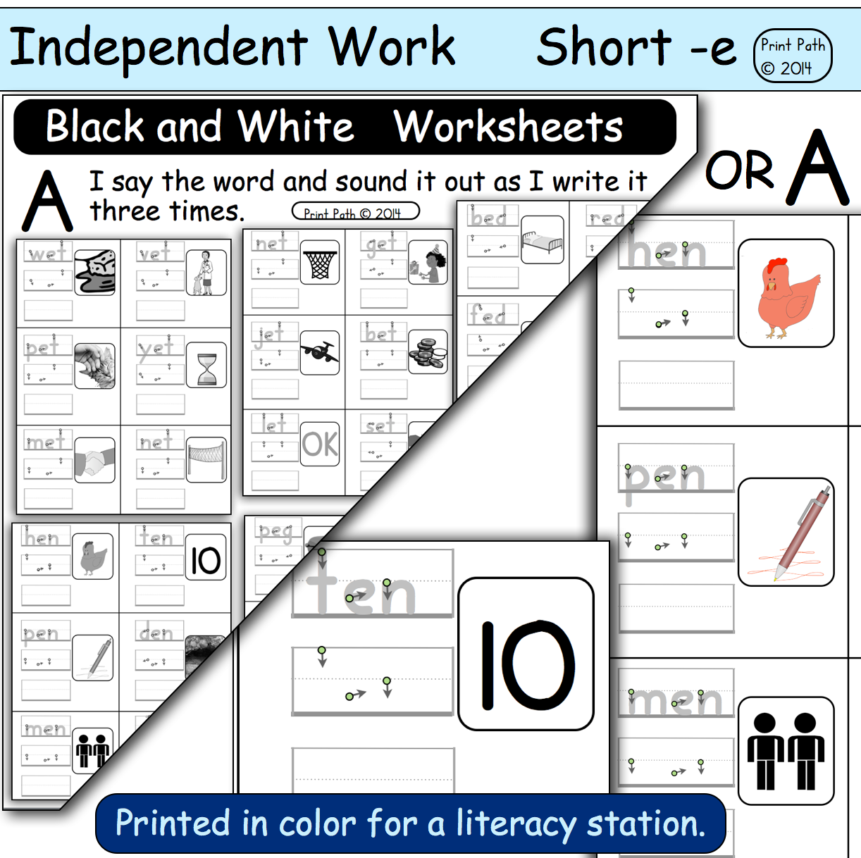 Capitals First By Print Path Cvc Independent Work Short Vowel Word Families Pre Primer And