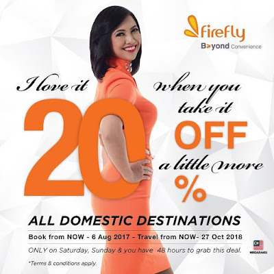 Firefly Airlines Flight Ticket Promo Price Discount Offer