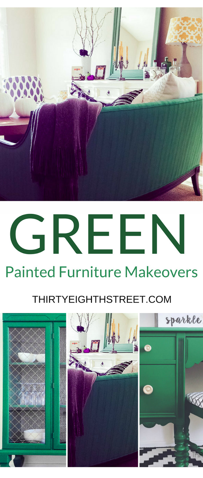 green furniture, furniture painting, painted furniture, painted green furniture, emerald green furniture, mint green furniture, green furniture makeovers