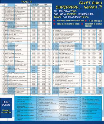 Paket 4 : Buku Murah All Item Rp. 7.000,- !