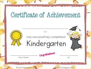 Certificates for Kindergarten printable