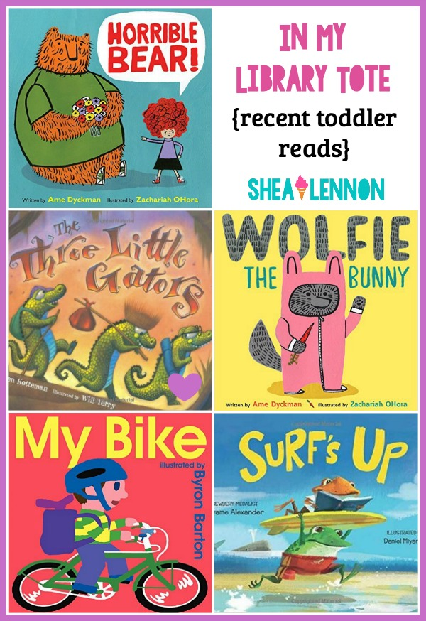 It can be overwhelming to go to the library to pick out books for your toddler. Here are a few toddler-approved books that may help you narrow down the selection. Click through for the details.