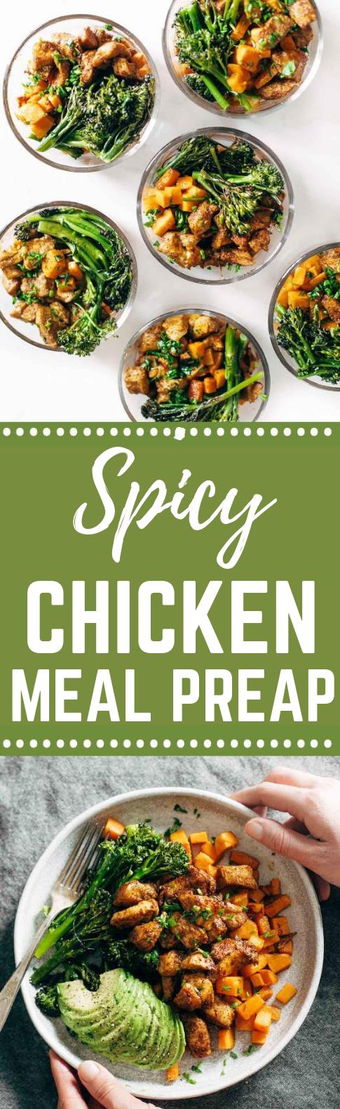 Spicy Chicken Sweet Potato Meal Prep Magic Bowls #HealthyRecipe #HealthyMeals