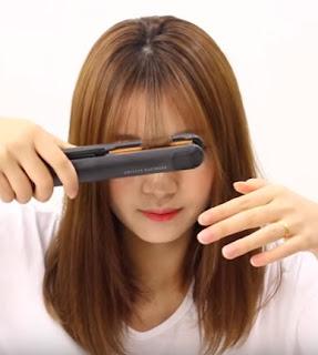 cara memotong rambut senidiri ala rambt korea