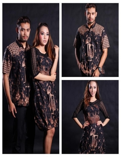 Model Baju Batik Couple Berhijab