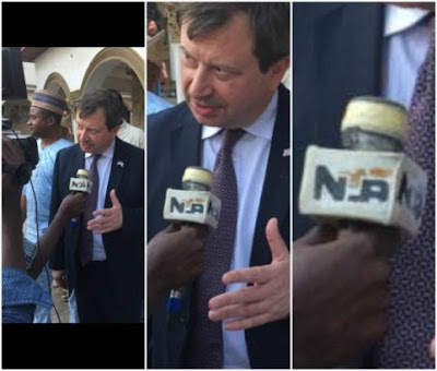 Nigerian man comes for NTA over 'bad' microphone used for an interview (photos)