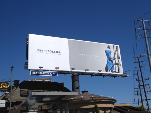 Farfetch womenswear FW15 billboard