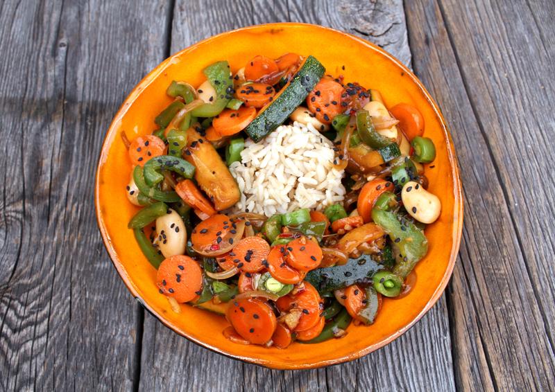 Oppskrift Grønnsakswok Hvite Bønner Vegetarwok Vegansk Wok Woksaus Kjøttfri Middag