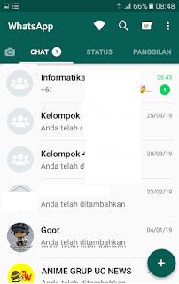 Tampilan GBWhatsApp Clone