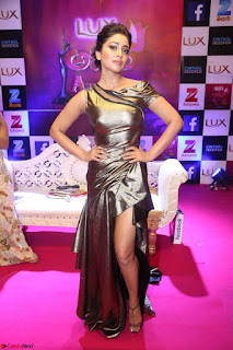 Shreya Saran in Skin Tight Golden Gown ~  Exclusive 002.JPG