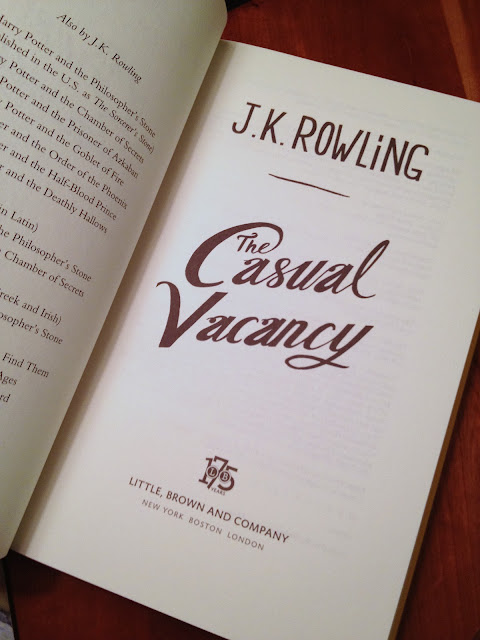 First Chapter, First Paragraph Tuesday: The Casual Vacancy