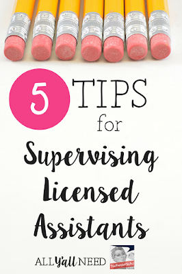 5 Tips for Supervising Licensed Assistants in Speech and Language Therapy by All Y'all Need