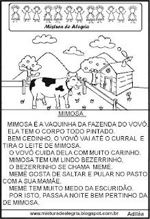 Leitura para alfabetização Mimosa