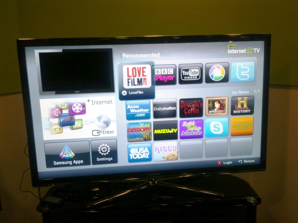 Samsung Tv Internet