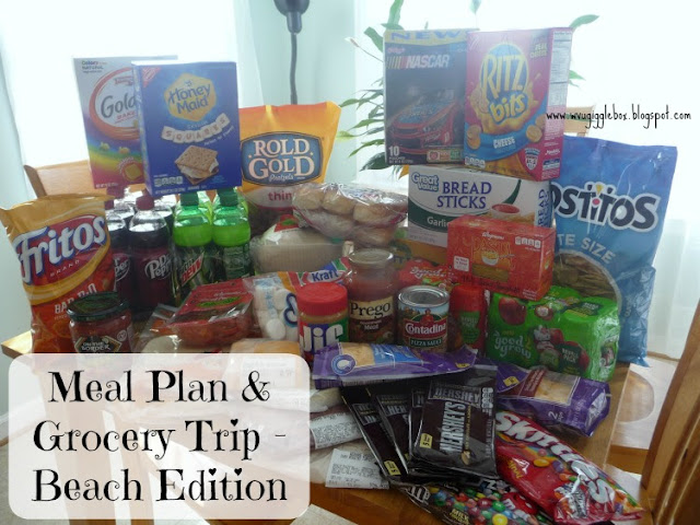 meal plans, meal plans for beach vacation, $50 weekly grocery budget,