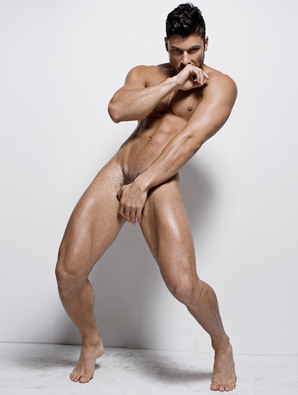 Male Model Alessandro Dellisola Covering Naked And Sexy