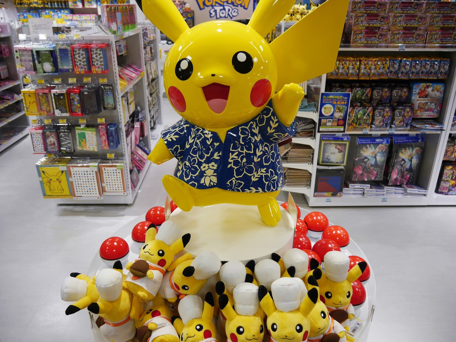 沖繩-皮卡丘-寶可夢-花襯衫-國際通-Okinawa-pokemon
