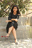 Telugu Actress Pavani Latest Pos in Black Short Dress at Smile Pictures Production No 1 Movie Opening  0038.JPG
