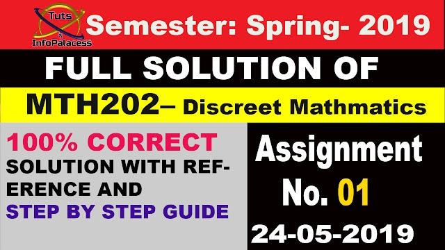 MTH202 Assignment 1 Solution Spring 2019 with Docx File Downlaod link