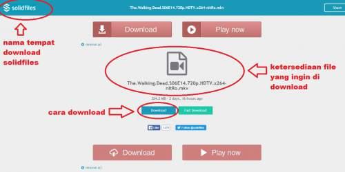 Cara download di Solidfiles