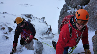 guided winter climbing