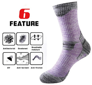 Multi Performance Cushion Hiking Outdoor Sport Crew Socks breakdown
