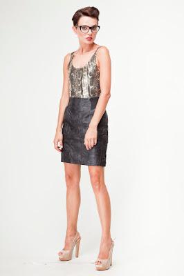 retro vintage odzież unikatowa spódnica skórzana moda retro netstylistka
