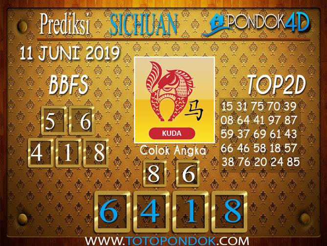 Prediksi Togel SICHUAN PONDOK4D 11 JUNI 2019