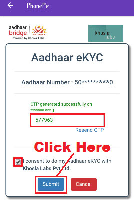 step by step procedure to complete kyc in phonepe app